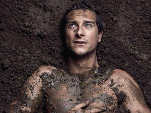 Bear Grylls mud bath