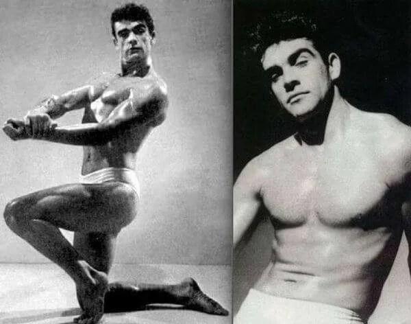 Sean Connery Mr Universe contestant 1953