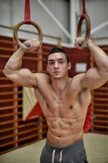 Gymnast Luke Carson gets back to the Greek ideal of exercising naked.