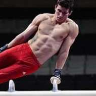 Max Whitlock showing his 'core'