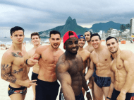 Even the Rio skyline is aroused by the US male gymnastics team
