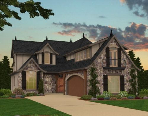 French Country House Plans   French Country Home Designs  Merlot  French Country House Plan M 2685 A Front View