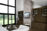 Great Room Fireplace TV Wall