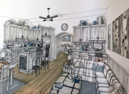 MM-640 Interior View Small Modern House Plans