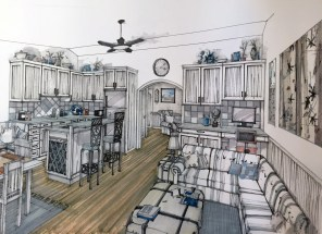 Montana Small House Plan Interior View