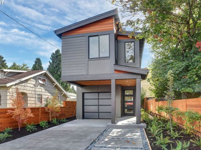 Skinny House Plans | Modern Skinny Home Designs & House Floor Plans