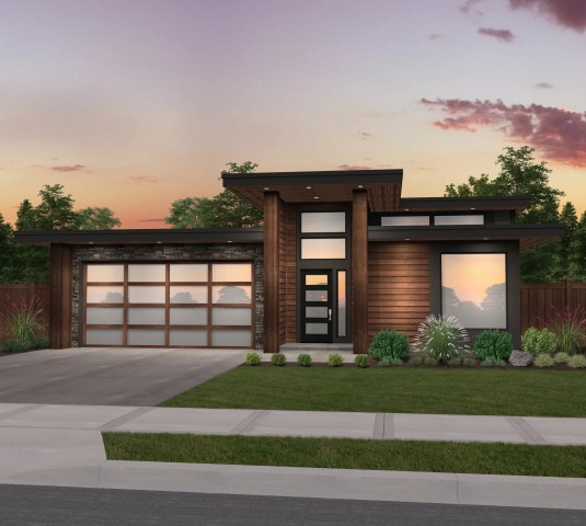 x-18-a | modern shed roof house planmark stewart home design