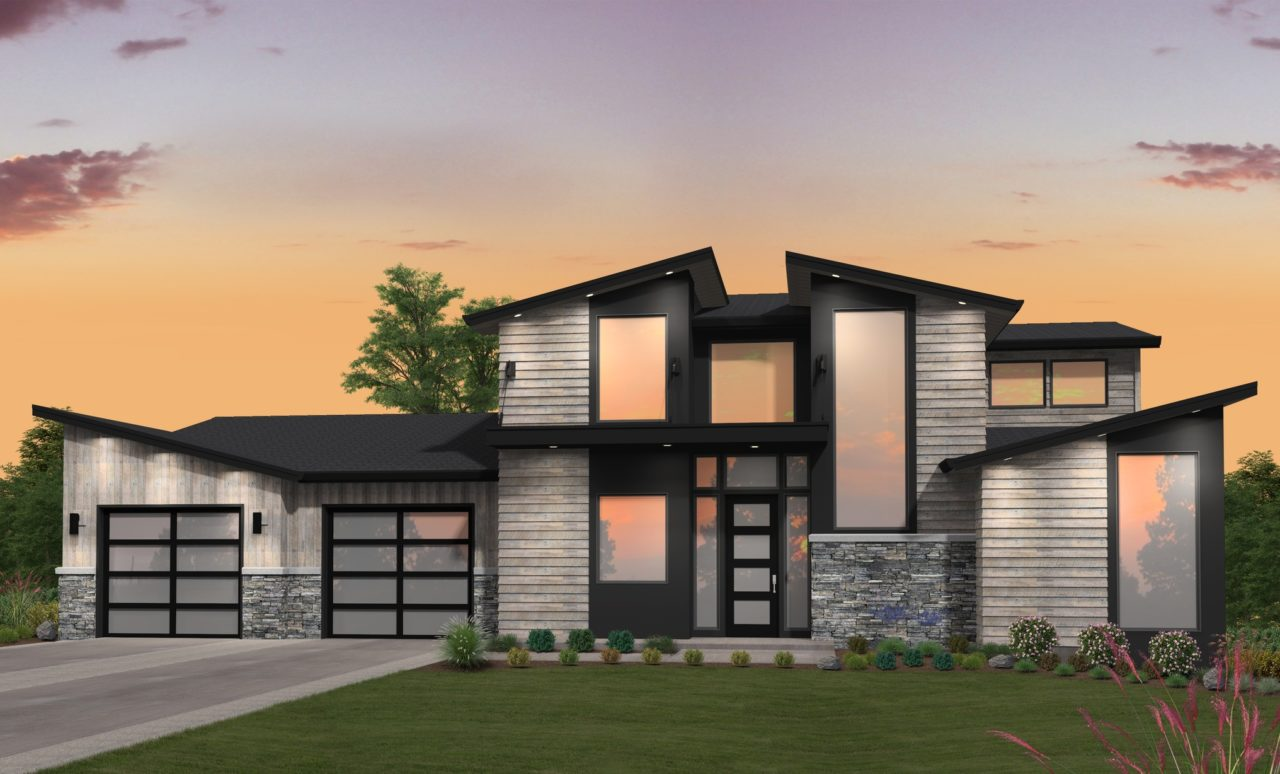 2 Story Modern House Plan With A Main Floor Master Suite