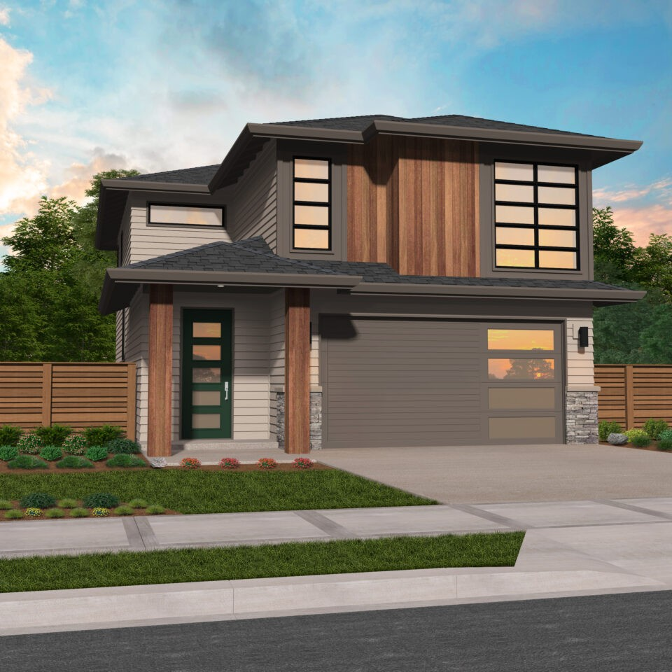 Canyon House Plan Northwest Modern House Plan By Mark Stewart