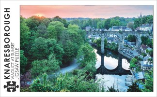 Knaresborough Viaduct at Sunset 1000 Piece Jigsaw