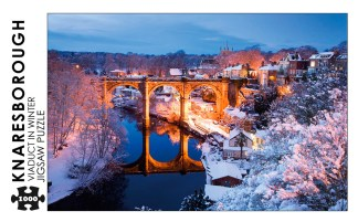 Knaresborough Viaduct in Winter 1000 Piece Jigsaw Puzzle