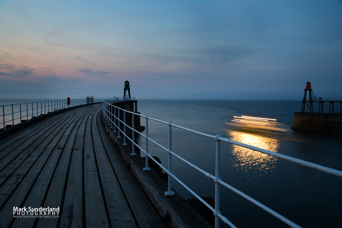 The Twilight Cruise Leaves the Harbour at Whitby