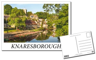 Knaresborough River Nidd Postcard