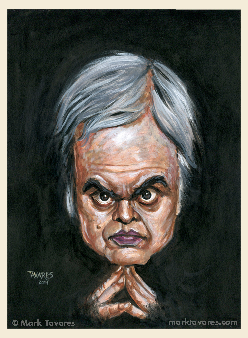 Mark Tavares's painting of H. R. Giger