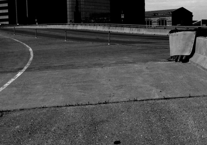 Empty On Ramp, b&w KC, May 2014