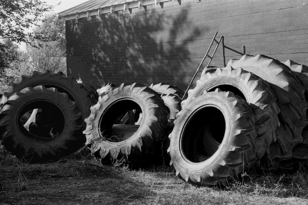 Old Tires, b&w, 1985