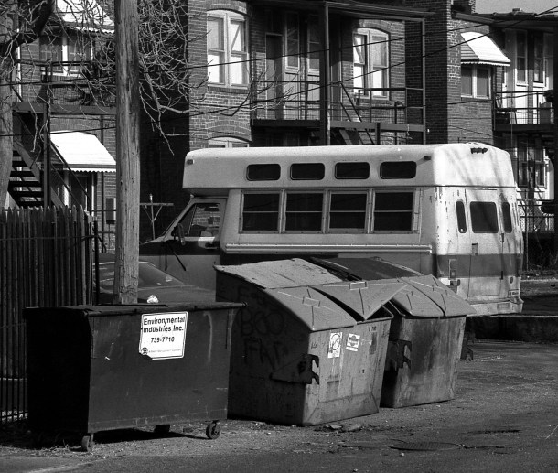 Takin' Out The Recycle, b&w, 1985