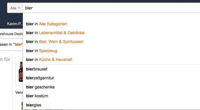 Amazon SEO Suche