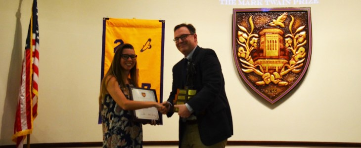 graduating senior wins mark twain essay prize