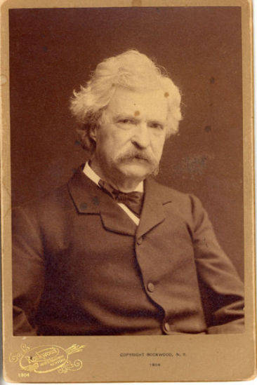 Portrait of Samuel Clemens taken in the year that his wife Olivia died.
