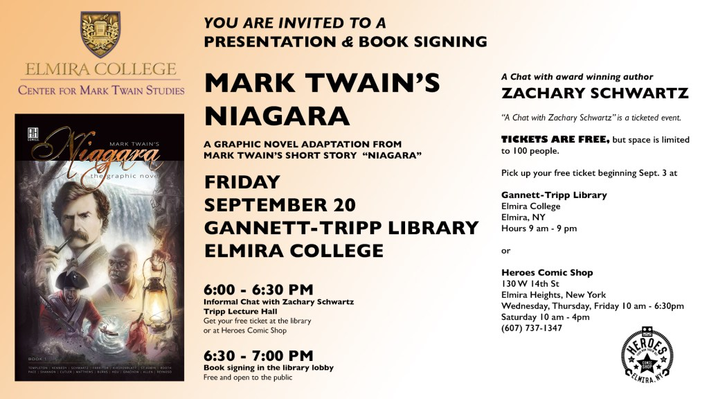 Event is this Friday, September 20 at the Elmira College Gannett-Tripp Library