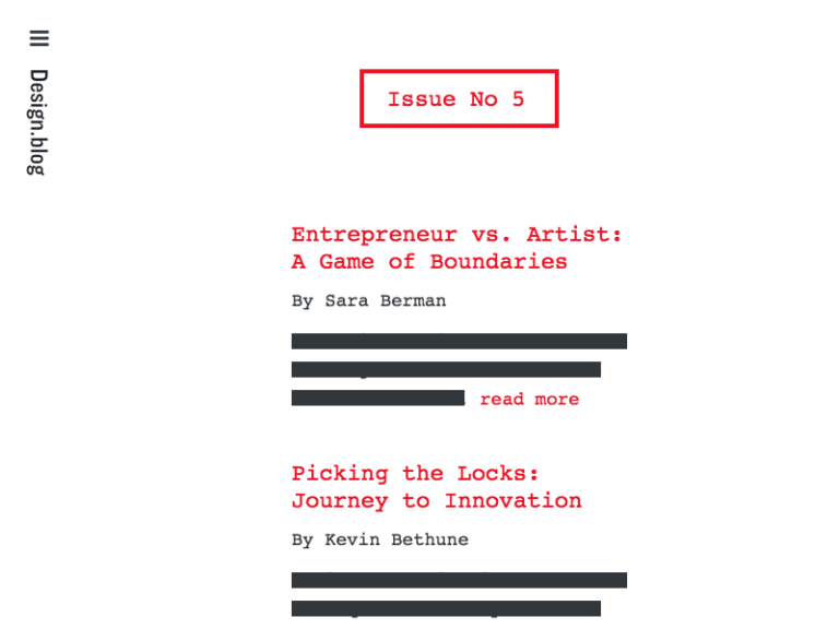 design.blog issue 5 cover
