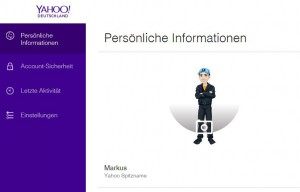 Yahoo Account Übersicht