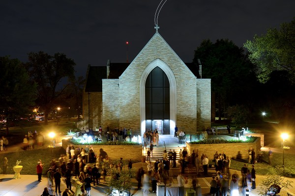Chapel of St. Timothy & St. Titus at Concordia Seminary, St. Louis on Call Day evening in 2015. Photographed by Mark Polege.