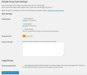 Simple Drop Cap PlugIn