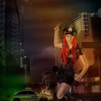 Female Police Office Photoshop Compositing DigiArt Fantasy Halloween