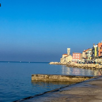 Piran am Meer in Slowenien