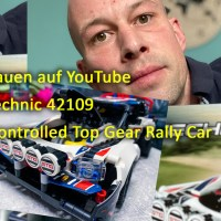 LIVE Lego bauen auf YouTube Lego Technic 42109 App-Crontrolled Top Gear Rally Car