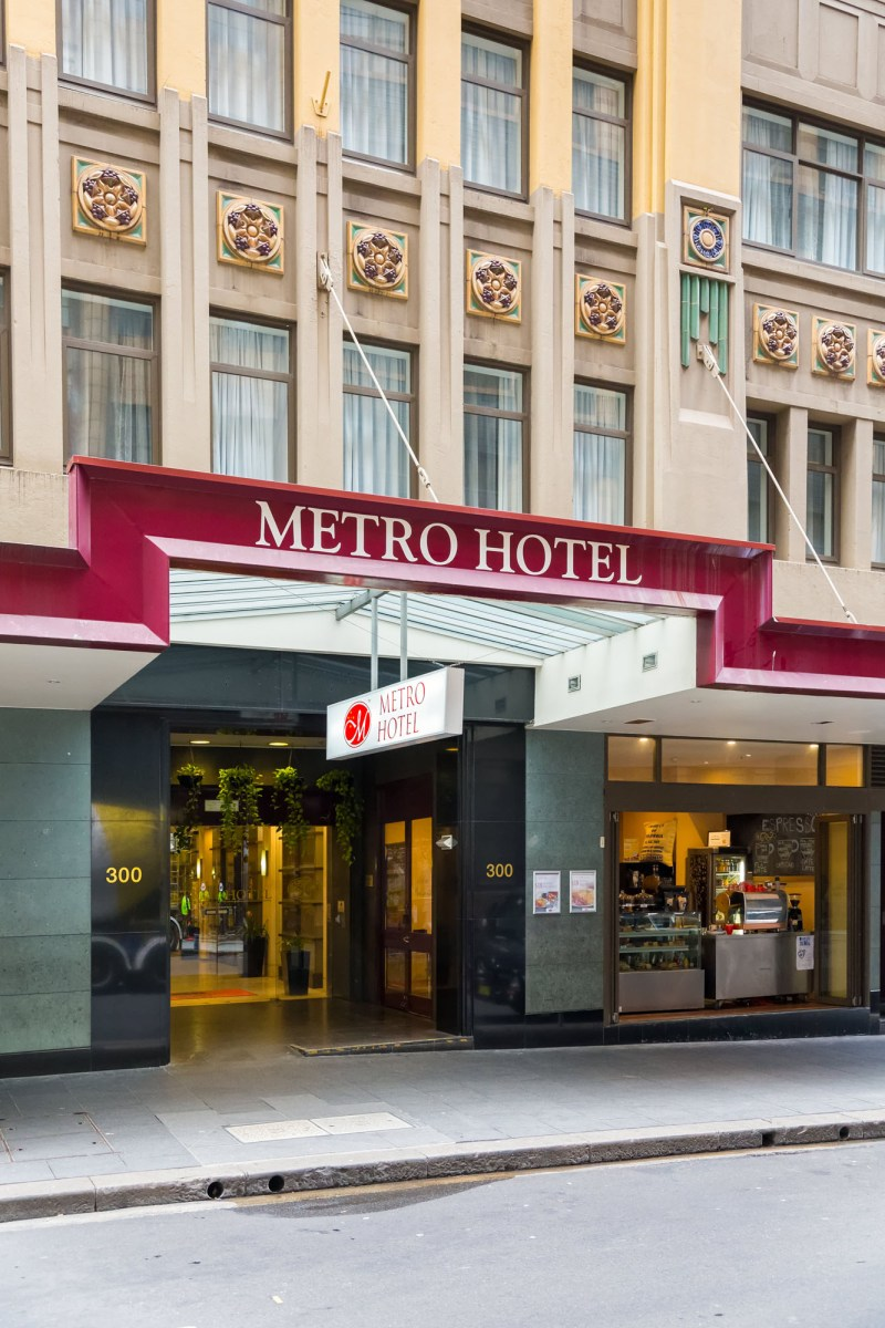 Hotel Photography - Metro Hotel on Pitt Sydney