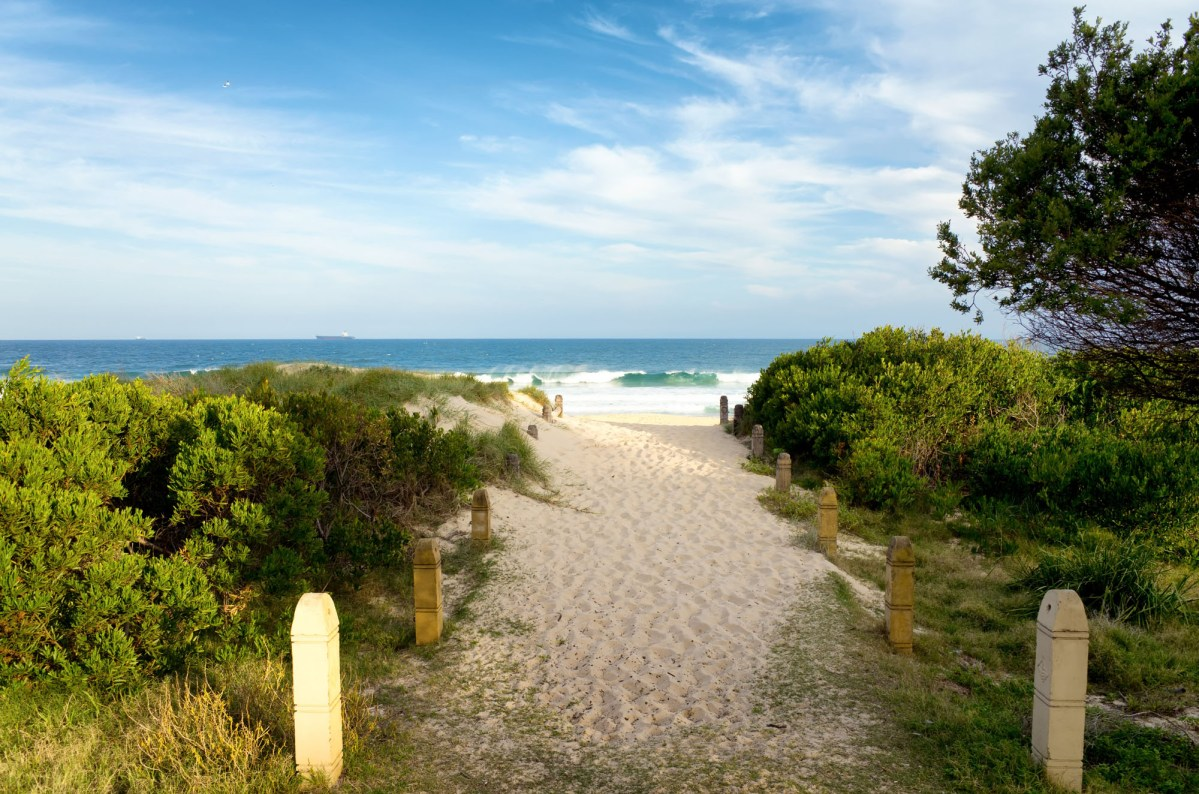 Stock Photography - Pathway Over Sand Dunes Wollongong Beach