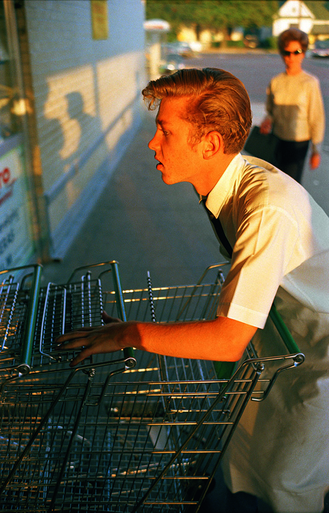 William Eggleston Supermarket Boy with Carts