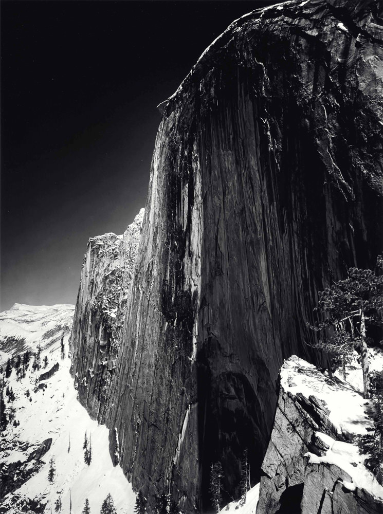 ansel adams monolith the face of half dome 1927