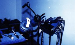 Detail of TG's Mobile Saxophone & Mute Unit -- June 16, 1996 -- photo by Mark Weber
