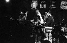 """Spiritual"" -- Tom Guralnick sits in with Tetragon during Coltrane Birthday Memorial Concert @ Outpost -- September 23, 1995 -- Tim Zannes & Kanoa Kaluhiwa, tenor saxophones; Paul Gonzales (trumpet) conducting; John Belzaguy, bass; Steve Figueroa, piano; Kenny Battat, drums; TG, alto -- photo by Mark Weber"
