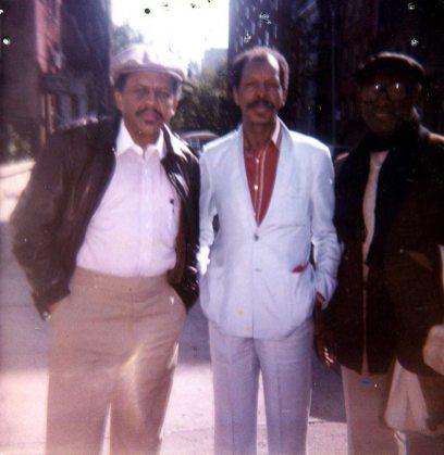 Bobby Bradford, Ornette Coleman, John Carter -- New York City, 1980s -- photo by Charles Moffett