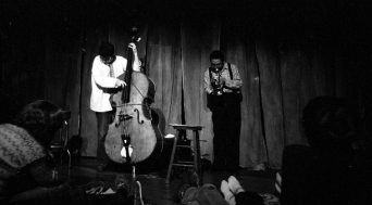Charlie Haden & Bobby Bradford in duet -- February 17, 1980 -- Century City Playhouse, Los Angeles -- photo by Mark Weber