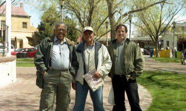 Bobby Bradford, Roberto Miranda, Chuck Manning -- April 12, 2004 -- Old Town Albuquerque, New Mexico, USA -- photo by Mark Weber