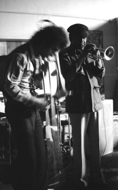 Glenn Ferris and Bobby Bradford at Little Big Horn -- Late 1976 -- photo by Mark Weber