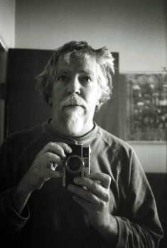 Self-portrait in mirror -- and my Olympus RC35 that Tom Guralnick gave me -- December 30, 2009 Albuquerque