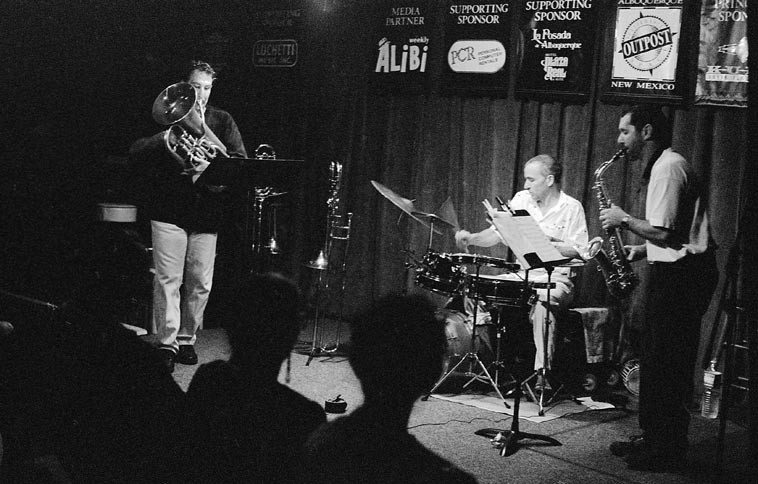 TG3 -- Tom Guralnick Trio -- July 12, 1997 @ old Outpost Perfomance Space -- photo by Mark Weber