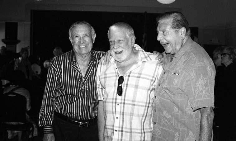Gene Merlino, Lanny Morgan, Gene Cipriano -- May 31, 2o14 -- photo by Mark Weber