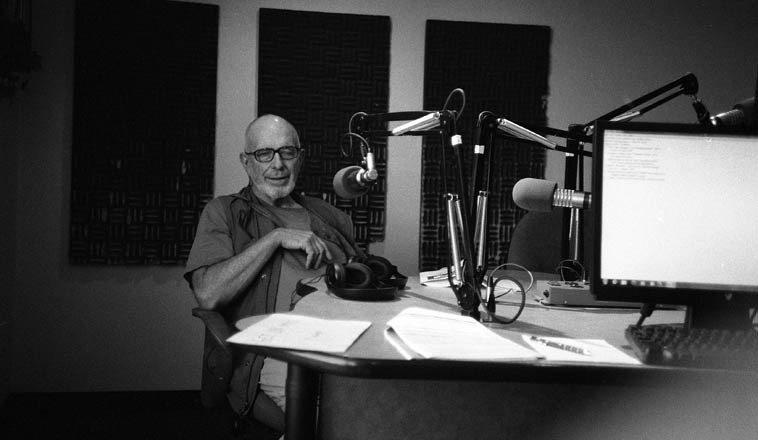Bobby Byrd on my radio show ---- KUNM, Albuquerque ---- July 10, 2o14 --- photo by Mark Weber