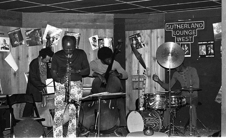 John Carter Ensemble: Roberto Miranda, Stanley Carter, JC, William Jeffery -- June 21, 1976 -- photo  by Mark Weber