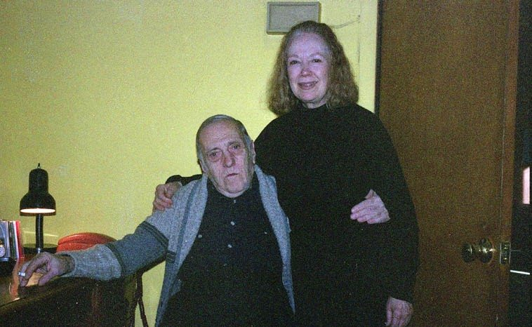 Sal Mosca and Connie Crothers at Sal's studio in Mt Vernon, NY -- December 4, 2004 --  photo by Mark Weber