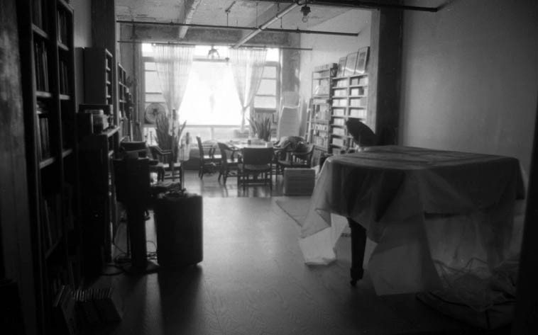 Connie Crothers' studio in repose -- 7:30 a.m. -- Williamsburg, Brooklyn, New York -- September 11, 2o13 -- photo by Mark Weber