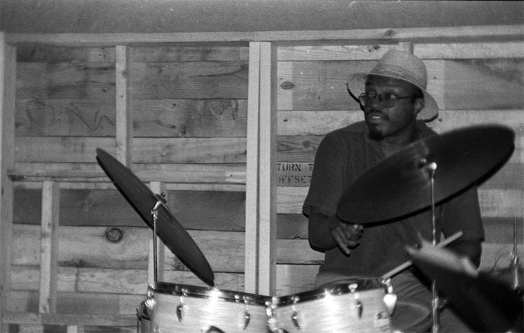 Stanley Crouch -- April 24, 1977 at The Little Big Horn, Pasadena, California -- photo by Mark Weber